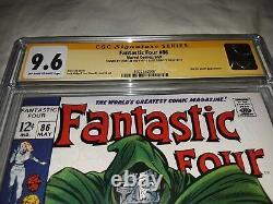 2X Signed Stan Lee Joe Sinnott Fantastic Four 86 CGC 9.6 SS NM+ Silver Age 1969