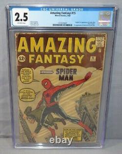 AMAZING FANTASY #15 (Spider-Man 1st appearance) CGC 2.5 GD+ Marvel Comics 1962