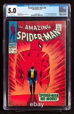 AMAZING SPIDER-MAN #50 CGC 5.0 KEY 1st APP. KINGPIN UNDERGRADED UNPRESSED