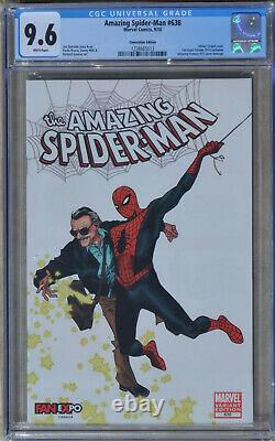 AMAZING SPIDER-MAN #638 2010 CGC 9.6 (NM+) White Convention Stan Lee FAN EXPO