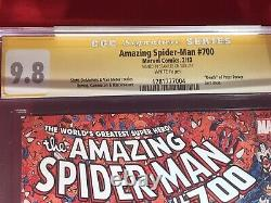 AMAZING SPIDER-MAN #700 CGC 9.8 (Autographed by Stan Lee) Death of Peter Parker