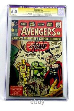 AVENGERS #1 (Sep 1963) CGC 6.0 Signed By STAN LEE