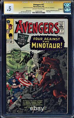 AVENGERS #17 CGC. 5 OWW PAGES STAN LEE SIGNED HULK CAMEO #1206552002 Incomplete