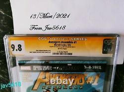 AVENGERS ASSEMBLE #1 CGC 9.8 SS x2 LEE, MARVEL BLACK WIDOW ULTRA RARE, MINT