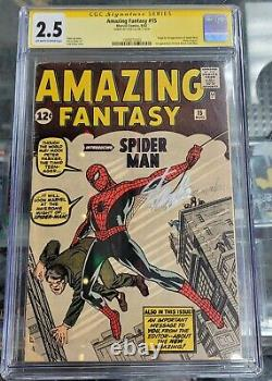 Amazing Fantasy 15 CGC 2.5 SS Stan Lee Grail 1st Spider-Man Check Descp. TY
