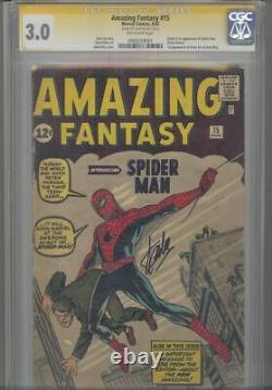 Amazing Fantasy #15 CGC 3.0 SS Signed By Stan Lee