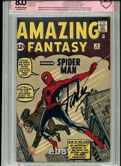 Amazing Fantasy #15 Cbcs Graded 8.0 Verified Stan Lee Signature Cgc