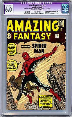 Amazing Fantasy #15 Cgc 6.0 Signed By Stan Lee Very First Spider-man App 1962