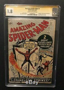 Amazing Spider-Man #1 1963 SS CGC 1.8 Stan Lee signed MARVEL