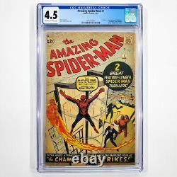 Amazing Spider-Man #1 CGC 4.5 1st App J. Jonah Jameson & Chameleon 1963