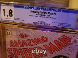 Amazing Spider-Man 1 CGC GRAIL 1963 key issue marvel Stan lee rare