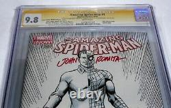 Amazing Spider-Man #1 CGC SS Signature Autograph STAN LEE ROMITA Sketch Cover