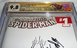 Amazing Spider-Man #1 CGC SS Sketch Signature STAN LEE JOHN ROMITA Blank Cover