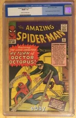 Amazing Spider-Man 11 CGC 7.0 2nd Appearance Of Doctor Octopus Marvel Stan Lee
