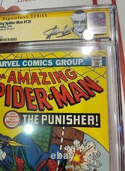 Amazing Spider-Man 129 CGC 9.6 SS Stan Lee 1st PUNISHER Key ISSUE 1974
