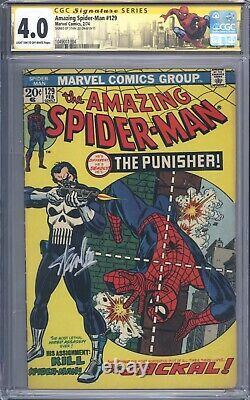 Amazing Spider-Man #129 Vol 1 CGC 4.0 SS Signature Series Stan Lee 1st Punisher