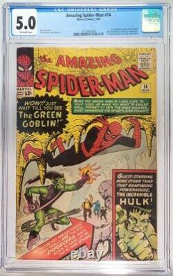 Amazing Spider-Man #14 CGC 5.0 1st Green Goblin Freshly Graded