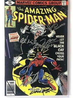 Amazing Spider-Man #194 1st Black Cat CGC 8.0 Signed 5X With Remarque Stan Lee +4
