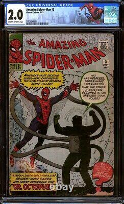 Amazing Spider-Man #3 CGC 2.0 Origin & 1st appearance of Doctor Octopus! L@@K