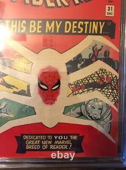 Amazing Spider-Man 31 CGC 7.5. WHITE PAGES! 1st Gwen Stacy! Spider-Gwen! Hot