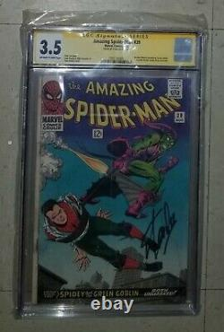 Amazing Spider-Man 39 Stan Lee Signed CGC graded 3.5 Green Goblin