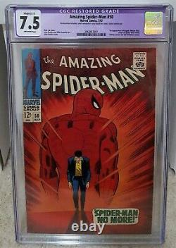 Amazing Spider-Man #50 (1967) CGC 7.5 Restored 1st Kingpin Marvel Comics Key