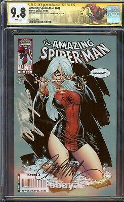 Amazing Spider-Man #607 CGC 9.8 Signed Stan Lee, Scott Campbell, 2009