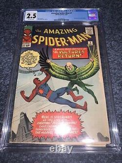 Amazing Spider-Man #7 CGC 2.5 1963 2nd Appearance Of Vulture Marvel