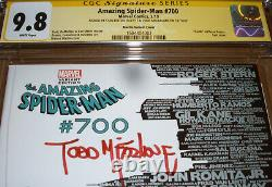 Amazing Spider-Man 700 CGC SS 9.8 SIGNED Stan Lee Todd McFarlane Skyline Variant