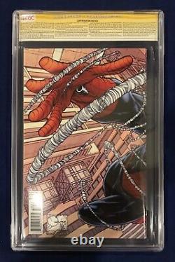 Amazing Spider-Man #700 Quesada Variant CGC 9.8 Signed-Stan Lee on 91st Birthday