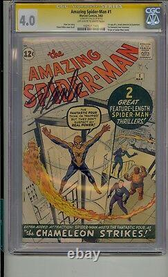 Amazing Spider-man #1 Cgc 4.0 Ss Signed Stan Lee