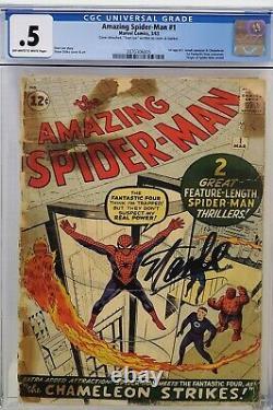 Amazing Spider-man #1 Cgc. 5 Signed Stan Lee