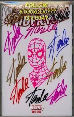 Amazing Spider-man #1 Cgc Ss 9.8 Stan Lee Signed 10x In Colored Sharpies 1/1