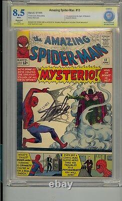 Amazing Spider-man #13 Cbcs 8.5 Ss Signed Stan Lee 1st Mysterio Not Cgc Pgx