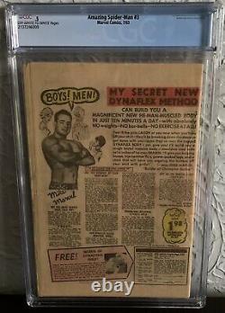 Amazing Spider-man #3 Cgc 0.5 1963 Origin & 1st Appearance Of Doctor Octopus