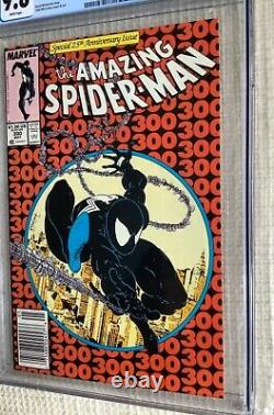 Amazing Spider-man # 300 CGC 9.8 Stan Lee, Todd Mcfarlane 1st Venom, Newsstand