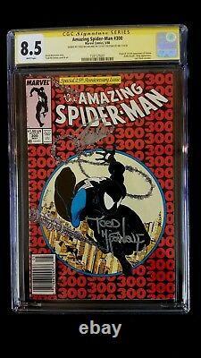 Amazing Spider-man #300 Cgc 8.5 Ss Signed Stan Lee Mcfarlane 1st Venom Newsstand