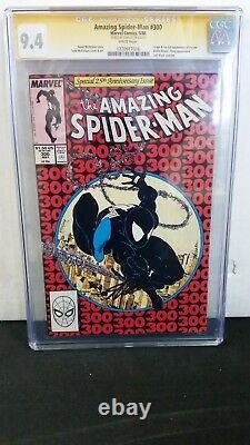Amazing Spider-man #300 Cgc 9.4 Ss Signed Stan Lee 1st Full Venom Eddie Brock