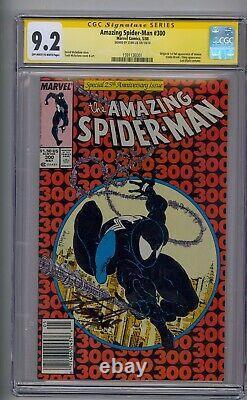Amazing Spider-man #300 Ss Cgc 9.2 Signed By Stan Lee Newsstand! Venom