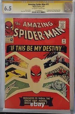 Amazing Spider-man #31 Cgc 6.5 Ss Signed Stan Lee 1st Gwen Stacy Harry Osborn