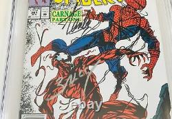 Amazing Spider-man #361 Cgc 9.8 Signed By Stan Lee & Mark Bagley Newsstand
