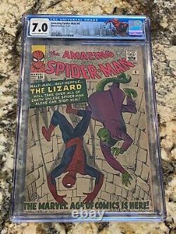 Amazing Spider-man #6 Cgc 7.0 Origin And 1st App The Lizard Hi End Key Mcu Movie