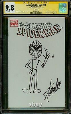 Amazing Spider-man 648 Cgc 9.8 Ss Stan The Man Lee Original Art By Creator 1
