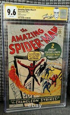 Amazing SpiderMan #1 CGC 9.6 1966 Golden Record Signed Stan Lee NEW STAN LABEL