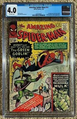 Amazing Spiderman #14 CGC 4.0 OW 1st App Green Goblin MCU