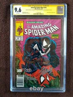 Amazing Spiderman #316 Newsstand UPC Signed by Stan Lee & Todd McFarlane & Zeck