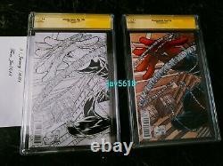 Amazing Spiderman 700 Sketch Cgc 9.8 Ss Stan Lee X 3 Quesada Variant Rare