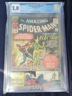 Amazing Spiderman#9 cgc 3.0(1st app. Of Electro Max dillon) spidey#3