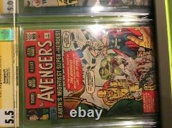 Avengers #1 1963 cgc 5.5 Last Avengers #1 Signed by Stan Lee