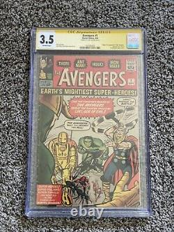 Avengers #1 CGC 3.5 SS Signed By Stan Lee 1st Appearance of Avengers and Loki